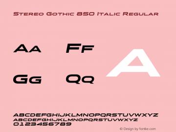 Stereo Gothic 850 Italic