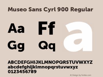 Museo Sans Cyrl 900