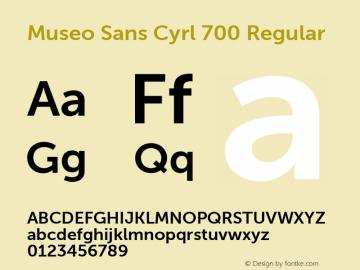 Museo Sans Cyrl 700