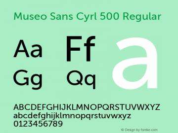 Museo Sans Cyrl 500