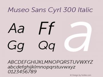Museo Sans Cyrl 300