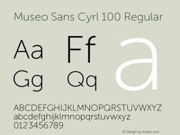 Museo Sans Cyrl 100