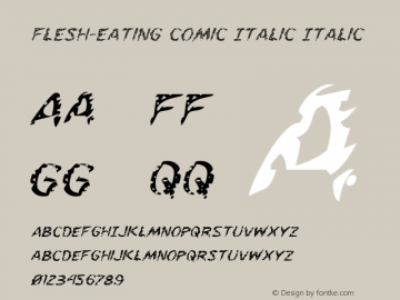 Flesh-Eating Comic Italic