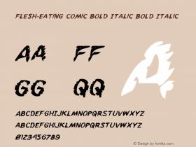Flesh-Eating Comic Bold Italic