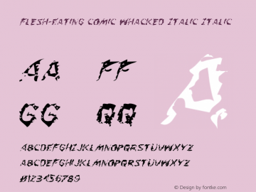 Flesh-Eating Comic Whacked Italic
