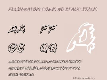 Flesh-Eating Comic 3D Italic
