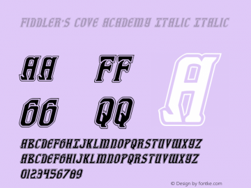 Fiddler's Cove Academy Italic