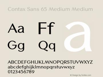Contax Sans 65 Medium