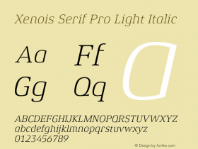 Xenois Serif Pro Light