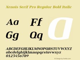 Xenois Serif Pro Regular
