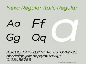 Nexa Regular Italic
