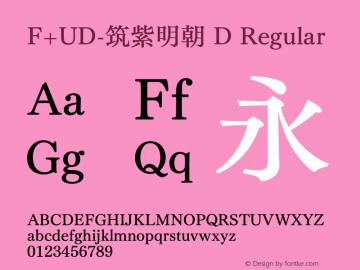 F+UD-筑紫明朝 D