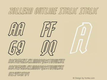 Zollern Outline Italic