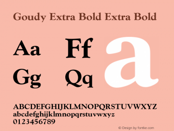 Goudy Extra Bold
