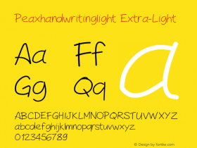 Peaxhandwritinglight