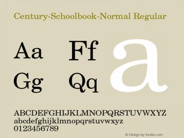 Century-Schoolbook-Normal