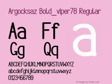 Argocksaz Bold_viper78