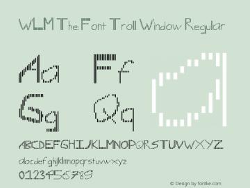 WLM The Font Troll Window