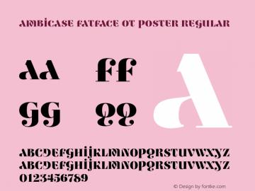 Ambicase Fatface OT Poster