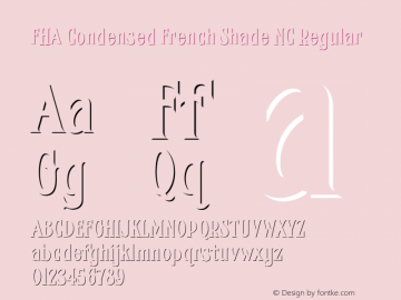 FHA Condensed French Shade NC