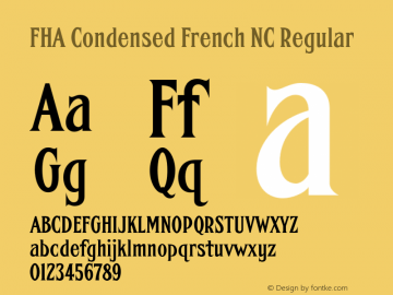 FHA Condensed French NC