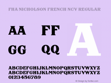 FHA Nicholson French NCV