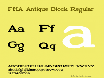 FHA Antique Block