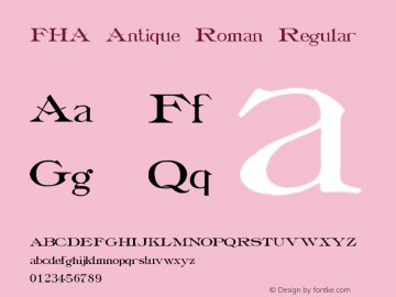 FHA Antique Roman
