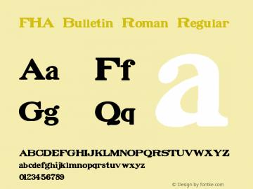 FHA Bulletin Roman