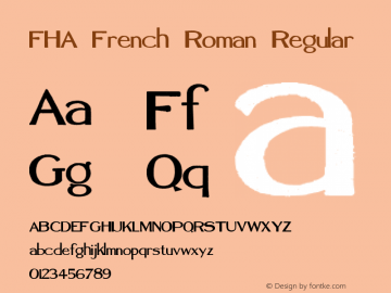 FHA French Roman