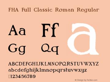 FHA Full Classic Roman