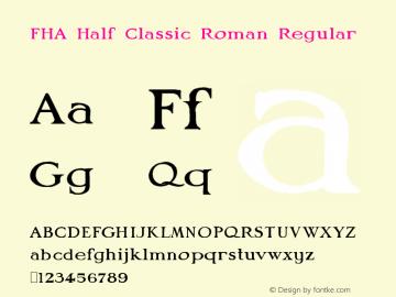 FHA Half Classic Roman