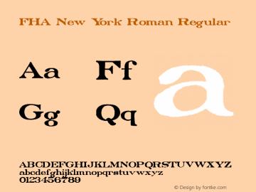 FHA New York Roman