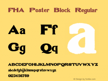 FHA Poster Block