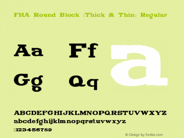 FHA Round Block (Thick & Thin)