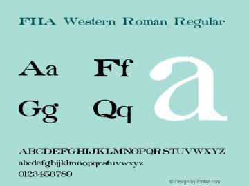 FHA Western Roman