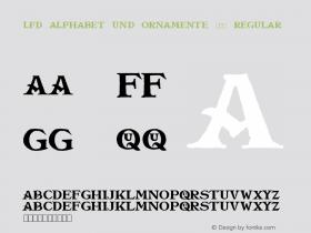LFD Alphabet Und Ornamente 216