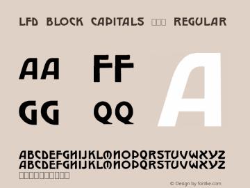 LFD Block Capitals 213