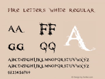 Fire Letters White