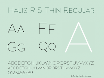 Halis R S Thin