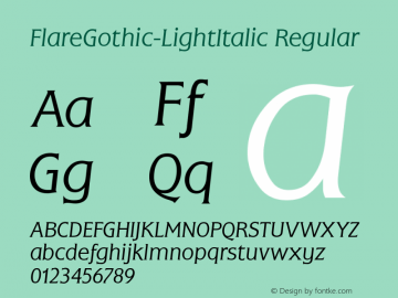 FlareGothic-LightItalic