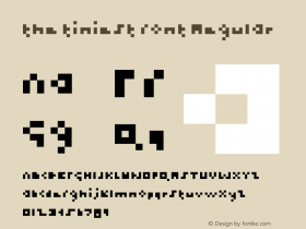 the tiniest font