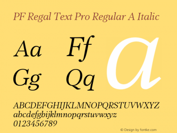 PF Regal Text Pro