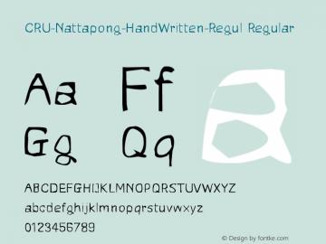 CRU-Nattapong-HandWritten-Regul