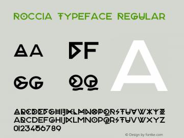 Roccia Typeface