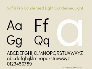 Sofia Pro Condensed Light
