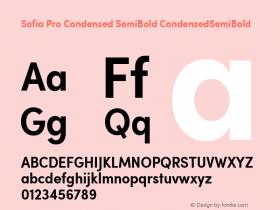 Sofia Pro Condensed SemiBold