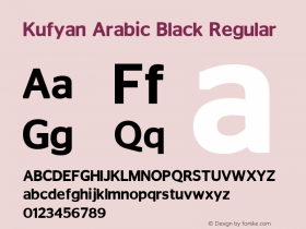 Kufyan Arabic Black