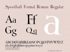 Speedball Formal Roman