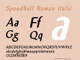 Speedball Roman